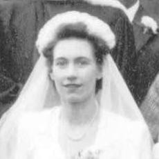 Photo:Peggy Miller on her wedding day